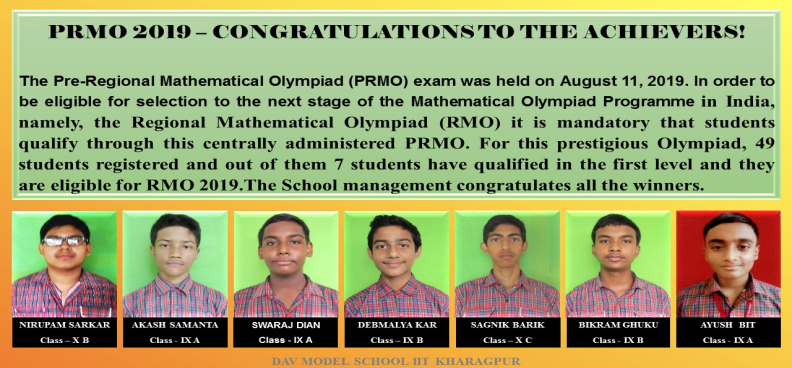 PRMO 2019 – CONGRATULATIONS TO THE ACHIEVERS!